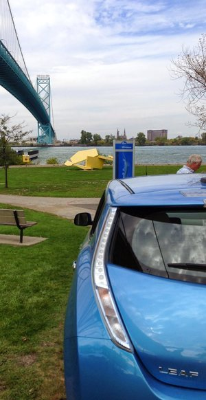 EV at Ambassador Bridge
